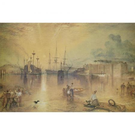 The Harbour at Newlyn S A Forbes Medici Print